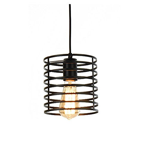 Lysed Pendant Lights Industrial Vintage Style Ceiling Lamp Pendent Fixture for Dinning Room Home Decoration E26/27 Edison Bulb Living Room Porch Garage Restaurant Kitchen Shopping ighting, Classical by Lysed