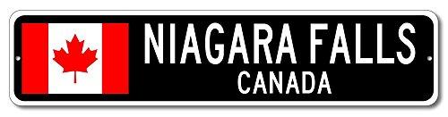 Canada Flag Sign - NIAGARA FALLS, CANADA - Canadian Custom Flag Sign - 4