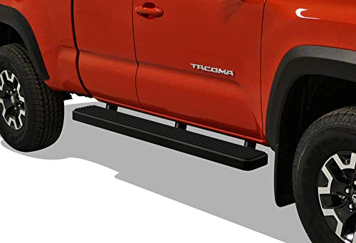 (iBoard (Black Powder Coated 6 inches) Running Boards | Nerf Bars | Side Steps | Step Rails for 2005-2019 Toyota Tacoma Access Cab Pickup)