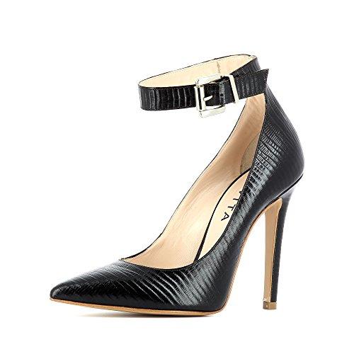 Mujer Evita caño oscuro marrón medio ShoesLisa qw7Pft7B
