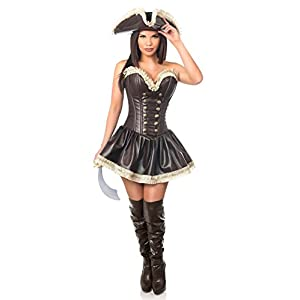 fb31c98c6 Halloween Costumes. Top Drawer 3 PC Pirate Lady Corset ...