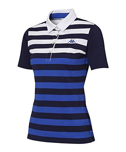 [カッパゴルフ] WOMENS KC722SS71 ツートンボーダー半袖シャツ M ブルー B07QWQBXBQ