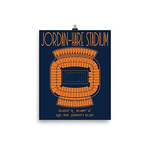 Auburn University Jordan-Hare Stadium Poster Print
