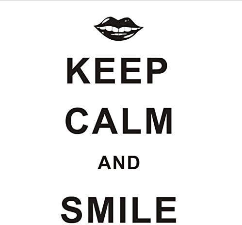 xmydeshoop Mantener La Calma Y Go Smile Palabras En Inglés ...