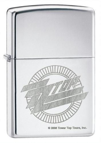 Zippo Lighter ZZ Top, High Polished Chrome ()
