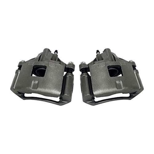 CKOE01018 [ 2 ] FRONT Premium Grade OE Semi-Loaded Caliper Assembly Pair Set ()