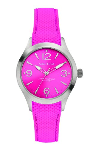 Nautica Wristwatch Women's A11102M Bfd 102 Pink Shocking Steel