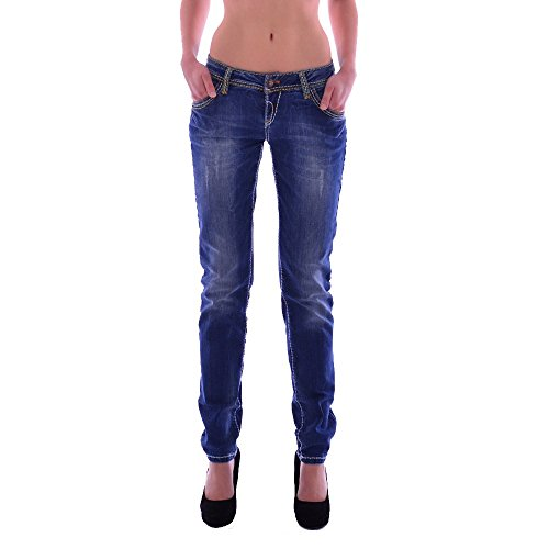 Cipo & Baxx slim fit Épaisseur couture pour femme jeans blue