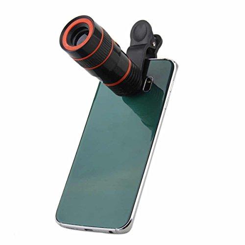 ONX3 Acer Liquid E3 / Liquid E3 Duo (Black 8x Zoom) Universal Clip-on 8x Zoom Optical Telescope Manual Focus Phone Camera Lens by ONX3® (Image #2)