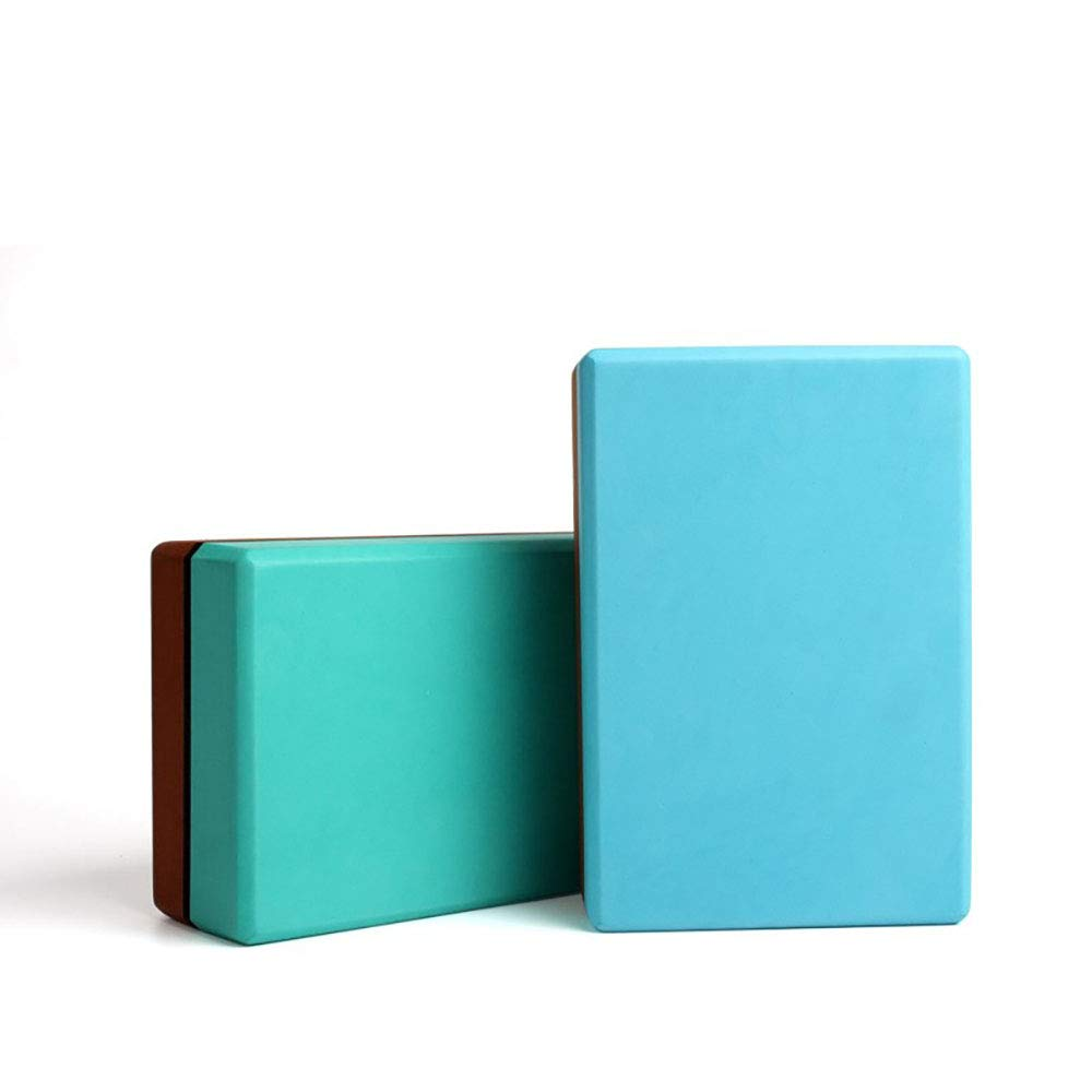 Amazon.com : Hyue Two-Color Yoga Brick Eva-Thick Green Anti ...