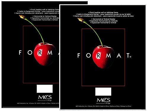 - MCS Format Frame, 8 by 10-Inch, Black, 6-Pack