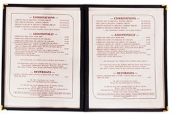 Update International (MCV-2GR) 9 1/2'' x 12'' Double Panel Menu Cover by Update International