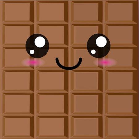 3dRose LLC lsp_57500_1 Kawaii Happy Milk Chocolate Bar Cute Smiley Foods Japanese Style Cartoon Anime Character Single Toggle Switch , Switch Plates