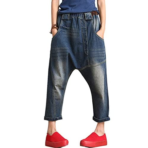 76f3fdbaa47557 durable modeling Yolee Women's High Waist Drop Crotch Denim Pants ...