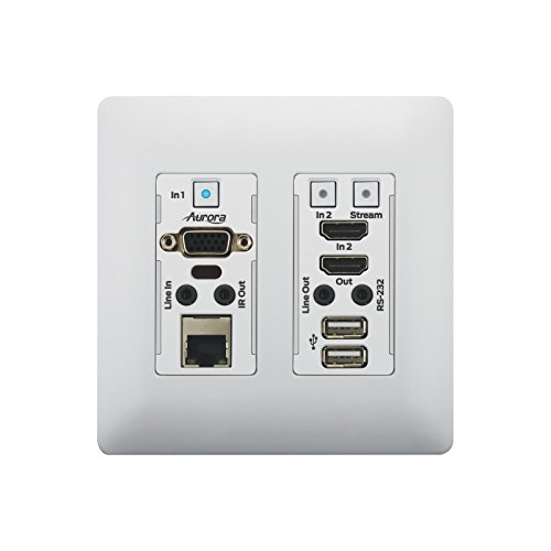 Aurora VLX-TCW2V-C | 1Gbps 4K IP Audio Video Wall Plate White by Aurora