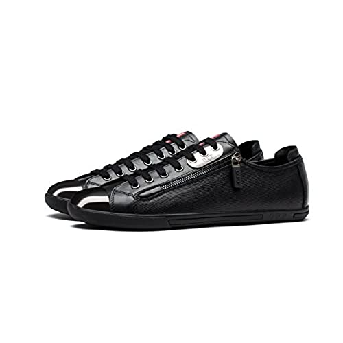 cheap OPP Men's Fashion Leather Lace-Up Loafer Driving Sneakers Shoes Low Heel with Zipper