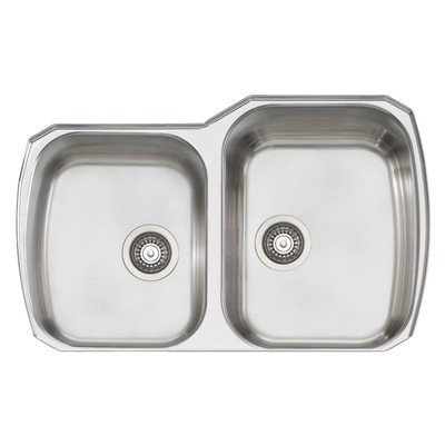 Oliveri 834u Stainless Steel Sink Double Large Small Basin Large Basin On Right Down Undermount
