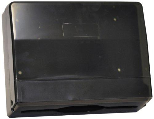 Quicky Spender für C-Falz Papierhandtücher, abschließbar schwarz, 250 Tücher, 1er Pack (1 x 1 Stück)