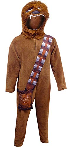 Star Wars Onesie Adults (Star Wars Men's Chewbacca Union Suit, Chewy Brown,)