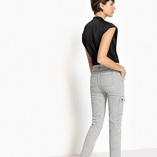 Righe nero Redoute Dritto Donna Rigato Avorio Cargo Collections Jeans La A UHx1Bw