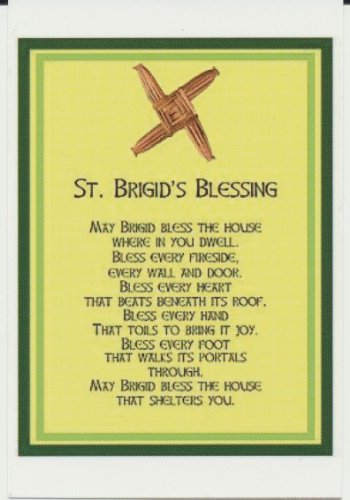 Prayer House Blessing - Saint Brigid Blessing Holy Card 2 1/2 by 3 3/4 Inches
