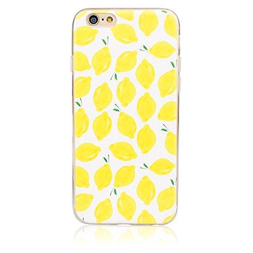 """Étui pour iPhone 6 iPhone 6S TPU, Ruirs Nice coloré d'impression ultra-transparent transparent TPU téléphone étui pour iPhone 6 / 6S 4.7""""(Citrons)"""