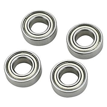- TOOGOO(R) 10pcs Miniature Rubber Sealed Metal Shielded Metric Radial Ball Bearing, MR126 ZZ 6 X 12 X 4MM