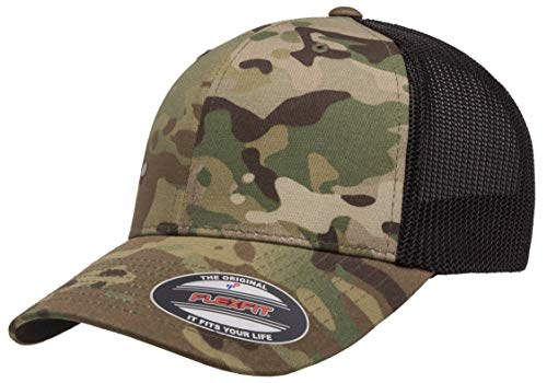 - Flexfit Trucker Hat for Men and Women | Breathable Mesh, Stretch Flex Fit Ballcap w/Hat Liner (Multicam)