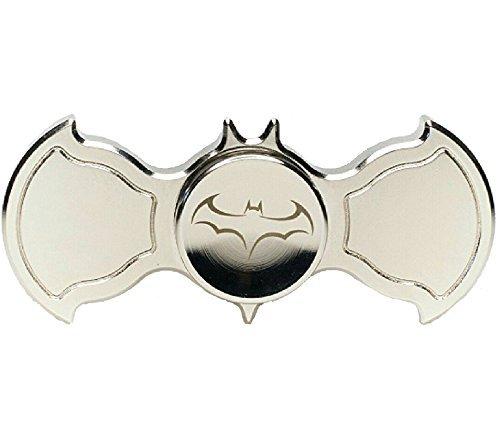 Batman Fidget Spinner Brass Metal Silver Bat Shaped Fidget