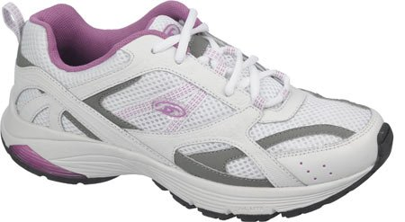 Dr. Scholl's Women's Curry-ls Fashion Sneaker,White/Purple,9 W US