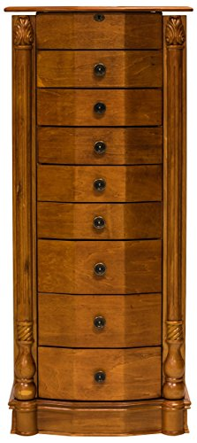Bedroom Oak Armoire (Hives and Honey 'FLORENCE' Jewelry Armoire, Honey Oak)