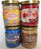 Smoke Odor Exterminator 13 oz Jar Candles Sandalwood Assorted, (4) Includes Sandalwood, Nag Champa, Gingerbread Lane & Sippin' Sangria.