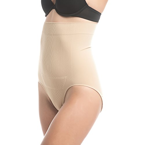 UpSpring Baby C-Panty Women's C-Section Underwear for Recovery & Slimming Panty with C-Section Scar Healing - L/XL Nude
