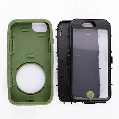 """Iphone 6 Coque Plus,Iphone 6S plus 5.5 """"Coque,Lantier 3 en 1 en caoutchouc dur + Hybrid PC Combo robuste avec Annulaire Béquille Couvercle de protection pour Apple Iphone 6 Plus/6S plus 5.5"""" ArmyGreen"""