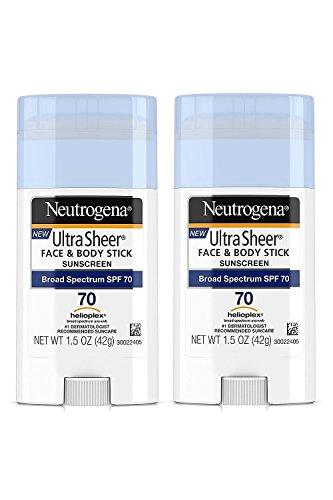 Neutrogena Sunscreen Ultra Sheer Stick SPF 70, 1.5 Ounce - 2
