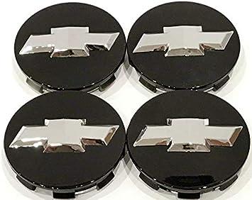 HUB CAPS For CHEVY BLACK MATTE 83MM 9596403 US Set of 4 PCS WHEEL EMBLEM CENTER