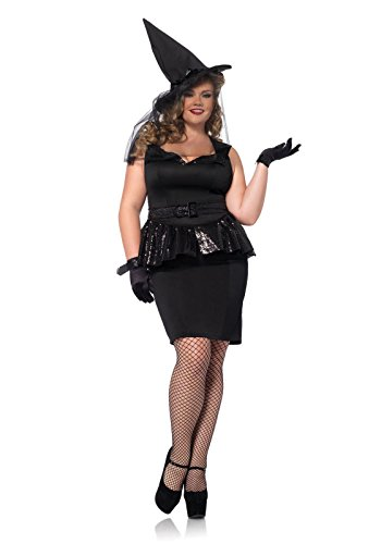 [Leg Avenue Womens Vintage Witch Adult Plus Size Costume (3X/4X)] (Adult Vintage Witch Costumes)