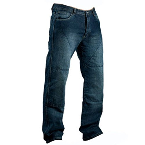 newfacelook Motorradhose Herren Denim Motorrad Jeans mit Aramid verstärkt Schutzauskleidung