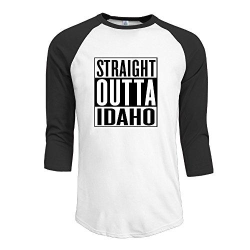 Straight Outta Idaho Boy Baseball T Shirts (Idaho Falls The Shop Bar)