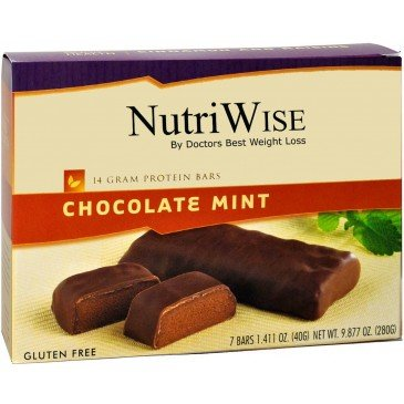 NutriWise - Chocolate Mint Diet Protein Bars (7 bars)