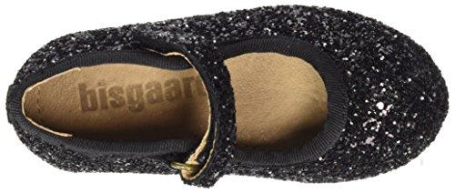 Bisgaard Ballerina-Velcro, Bailarinas con Correa de Tobillo Para Niñas Schwarz (03 Glitter-Black)