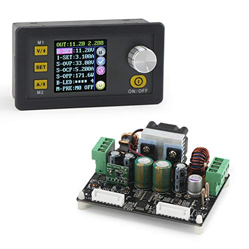 Boost Buck Converter, DROK 5A 160W Numerical Control Voltage Step Up Down Power Regulator Module DC 6V-40V to 0-32V Adjustable Volt Transformer ()