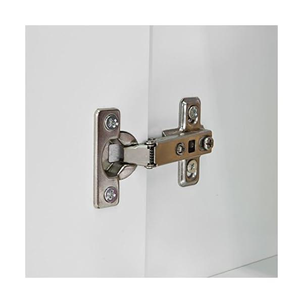 SoBuy® FRG231-W Meuble Haut Armoire de Toilettes Salle de Bain Suspendue Placard Commode Murale – 2 Portes – Blanc