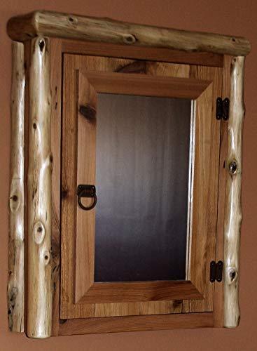 Cedar Medicine Cabinet - Cedar Log Reclaimed Cedar Medicine Cabinet