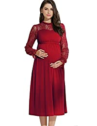 Maternity and Nursing Classic Lace Sleeve Dress
