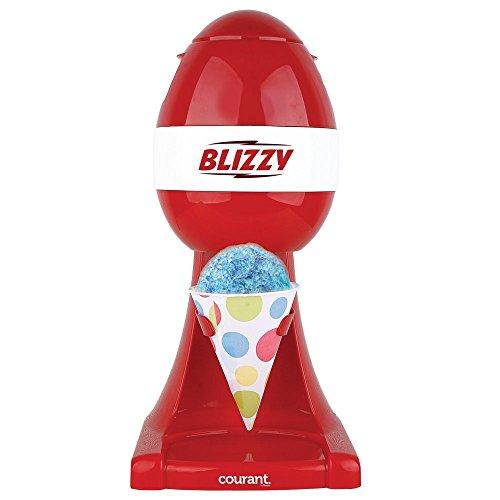 BLIZZY Snow Cone Maker Set | Includes: (1) Blizzy Electric Ice Shaver (20) 6 oz. Paper Cone Cups (20) Plastic Straws