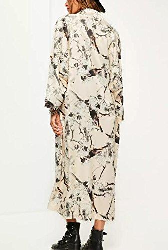 Women's 20 Loose Sheer Chiffon Floral Blouse Style Cardigan Tops Print Relipop Kimono dwqxIPTqO