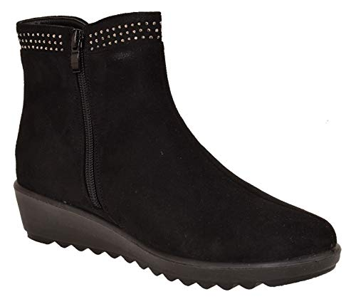 Chelsea Gussets Pecan Black Ankle Weight Light Face Ladies Boots True Twin qaZ4ZT
