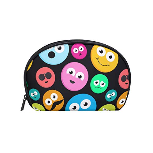 Makeup Bag Rainbow Emoji Cute Colorful Face Cosmetic Pouch Clutch ()