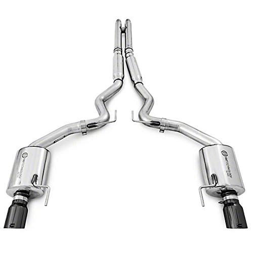 AWE Cat-back Exhaust Touring (Diamond Black Tips) for 2015-17 Ford Mustang GT ()